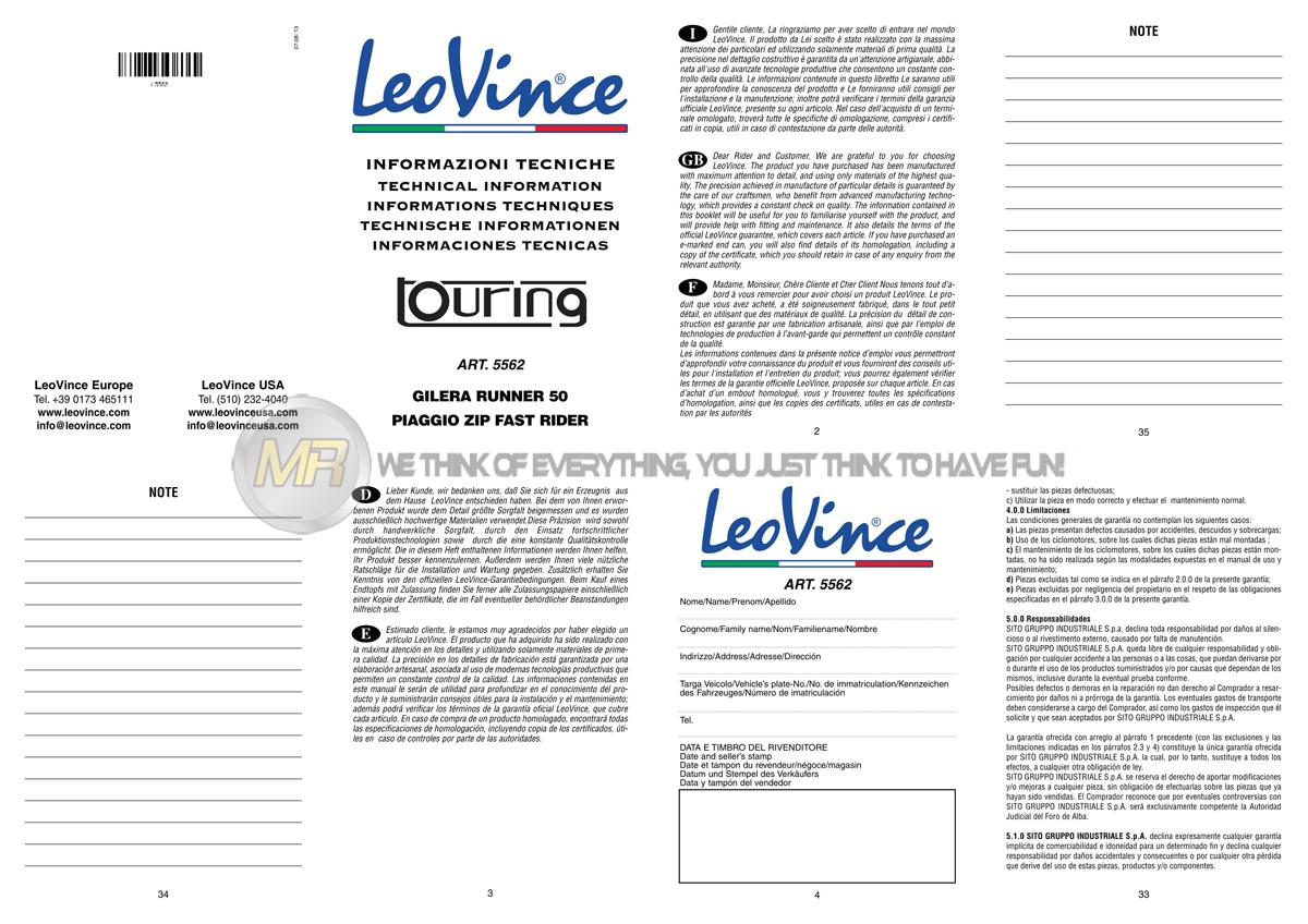 PIAGGIO ZIP 50 SP 1996 96 MARMITTA TERMINALE SCARICO COMPLETO DI COLLETTORE LEOV
