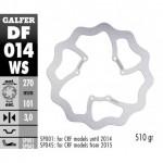 DF014WS - DISCO FRENO FISSO WAVE MAGGIORATO 270x3mm HONDA CR/CRF -2014 ANTERIORE