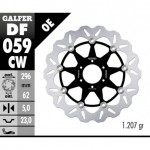DF059CW - DISCO FRENO FLOTTANTE WAVE COMPLETO (C. ALU.) 296x5mm HONDA 600 HORNET ANTERIORE