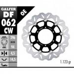 DF062CW - DISCO FRENO FLOTTANTE WAVE COMPLETO (C. ALU.) 296x4,5mm HONDA CB-F HORNET 600 (07) ANTERIORE