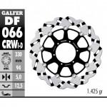 DF066CRWD - DISCO FRENO FLOTTANTE WAVE SCANALATO DESTRA (C. ALU.) 330x5mm HONDA CBR 900 RR (00-03) ANTERIORE