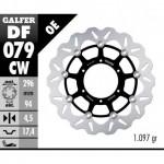 DF079CW - DISCO FRENO FLOTTANTE WAVE COMPLETO (C. ALU.) 296x4,5mm HONDA CBR 250ANTERIORE