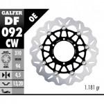 DF092CW - DISCO FRENO FLOTTANTE WAVE COMPLETO (C. ALU.) 310x4,5mm HONDA CBR 250 RR ANTERIORE
