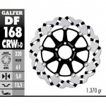 DF168CRWD - DISCO FRENO FLOTTANTE WAVE SCANALATO DESTRA (C. ALU.) 320x5mm KAWA ZX 9 (94) ANTERIORE