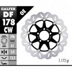 DF178CW - DISCO FRENO FLOTTANTE WAVE COMPLETO (C. ALU.) 296x5mm KAWA ZX6R 98-99 ANTERIORE