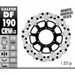 DF190CRWD - DISCO FRENO FLOTTANTE WAVE SCANALATO DESTRA (C. ALU.) 310x5mm KAWASAKI ZX 14 R (06) ANTERIORE