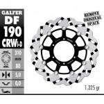 DF190CRWI - DISCO FRENO FLOTTANTE WAVE SCANALATO SINISTRA (C. ALU.) 310x5mm KAWASAKI ZX 14 R (06) ANTERIORE