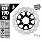 DF190CW - DISCO FRENO FLOTTANTE WAVE COMPLETO (C. ALU.) 310x5mm KAWASAKI ZX 14 R (06) ANTERIORE
