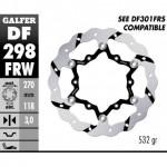 DF298FRW - DISCO FRENO FLOTTANTE WAVE SCANALATO (C. STEEL) 270x3mm YAMAHA YZ F 2016- ANTERIORE