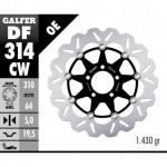 DF314CW - DISCO FRENO FLOTTANTE WAVE COMPLETO (C. ALU.) 310x5mm SUZUKI GS 500 E/BANDIT ANTERIORE