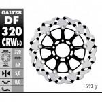 DF320CRWD - DISCO FRENO FLOTTANTE WAVE SCANALATO DESTRA (C. ALU.) 320x5mm SUZUKI GSX 600/750 R ANTERIORE