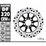 DF320CRWI - DISCO FRENO FLOTTANTE WAVE SCANALATO SINISTRA (C. ALU.) 320x5mm SUZUKI GSX 600/750 R ANTERIORE