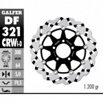 DF321CRWI - DISCO FRENO FLOTTANTE WAVE SCANALATO SINISTRA (C. ALU.) 300x5mm SUZUKI RGV 250 ANTERIORE