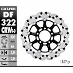 DF322CRWD - DISCO FRENO FLOTTANTE WAVE SCANALATO DESTRA (C. ALU.) 300x5mm SUZUKI GSXR 1000 (03) ANTERIORE