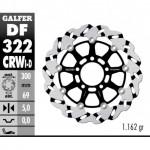 DF322CRWI - DISCO FRENO FLOTTANTE WAVE SCANALATO SINISTRA (C. ALU.) 300x5mm SUZUKI GSXR 1000 (03) ANTERIORE