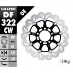 DF322CW - DISCO FRENO FLOTTANTE WAVE COMPLETO (C. ALU.) 300x5mm SUZUKI GSXR 1000 (03) ANTERIORE