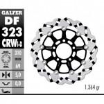 DF323CRWD - DISCO FRENO FLOTTANTE WAVE SCANALATO DESTRA (C. ALU.) 310x5mm SUZUKI SV 1000 S (03) ANTERIORE