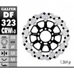 DF323CRWI - DISCO FRENO FLOTTANTE WAVE SCANALATO SINISTRA (C. ALU.) 310x5mm SUZUKI SV 1000 S (03) ANTERIORE