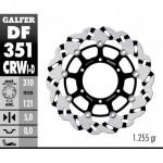 DF351CRWD - DISCO FRENO FLOTTANTE WAVE SCANALATO DESTRA (C. ALU.) 310x5mm SUZUKI GSR 600 (06) ANTERIORE