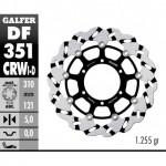 DF351CRWI - DISCO FRENO FLOTTANTE WAVE SCANALATO SINISTRA (C. ALU.) 310x5mm SUZUKI GSR 600 (06) ANTERIORE