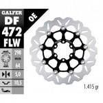DF472FLW - DISCO FRENO FLOTTANTE WAVE COMPLETO (C. STEEL) 298x5mm YAMA FZR 600/TDM850 ANTERIORE