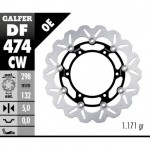DF474CW - DISCO FRENO FLOTTANTE WAVE COMPLETO (C. ALU.) 298x5mm YAMAHA YZF 600/1000 THUNDER ANTERIORE