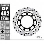 DF482CRWD - DISCO FRENO FLOTTANTE WAVE SCANALATO DESTRA (C. ALU.) 310x5mm YAMAHA R-6/R-1 ANTERIORE