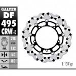 DF495CRWI - DISCO FRENO FLOTTANTE WAVE SCANALATO SINISTRA (C. ALU.) 298x5mm YAMAHA R6 (03) ANTERIORE
