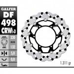 DF498CRWD - DISCO FRENO FLOTTANTE WAVE SCANALATO DESTRA (C. ALU.) 320x5mm YAMAHA YZF R7 00 ANTERIORE