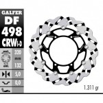 DF498CRWI - DISCO FRENO FLOTTANTE WAVE SCANALATO SINISTRA (C. ALU.) 320x5mm YAMAHA YZF R7 00 ANTERIORE