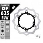 DF635FLW - DISCO FRENO FLOTTANTE WAVE (C. STEEL) 260x3mm HUSQUARNA TE ANTERIORE