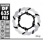 DF635FRS - DISCO FRENO FLOTTANTE WAVE MAGGIORATO SCANALATO (C. STEEL) 270 HUSQUARNA TE ANTERIORE