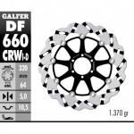 DF660CRWD - DISCO FRENO FLOTTANTE WAVE SCANALATO DESTRA (C. ALU.) 320x5mm DUCATI 851-888 ANTERIORE