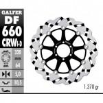 DF660CRWI - DISCO FRENO FLOTTANTE WAVE SCANALATO SINISTRA (C. ALU.) 320x5mm DUCATI 851-888 ANTERIORE