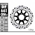 DF661CRWD - DISCO FRENO FLOTTANTE WAVE SCANALATO DESTRA (C. ALU.) 320x4,5 TRIUMPHANTERIORE