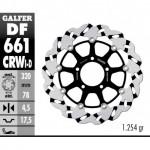 DF661CRWI - DISCO FRENO FLOTTANTE WAVE SCANALATO SINISTRA (C. ALU.) 320x4,5m TRIUMPH ANTERIORE