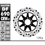 DF690CRWI - DISCO FRENO FLOTTANTE WAVE SCANALATO SINISTRA (C. ALU.) 310x5mm SUZUKI GSXR 750/1100 RANURADO ANTERIORE