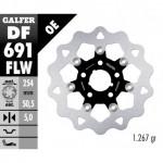 DF691FLW - DISCO FRENO FLOTTANTE WAVE (C. STEEL) 254x5mm HARLEY DAVIDSON STORZ POSTERIORE