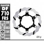 DF710FRS - DISCO FRENO FLOTTANTE WAVE MAGGIORATO SCANALATO (C. STEEL) 260 BMW G450X (08) ANTERIORE