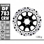 DF783CRW - DISCO FRENO FLOTTANTE WAVE SCANALATO (C. ALU.) 320x5mm KTM RC-8 (08) ANTERIORE