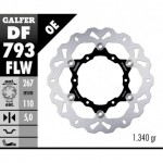 DF793FLW - DISCO FRENO FLOTTANTE WAVE (C. STEEL) 267x5mm KTM 1190 ADVENTURE POSTERIORE