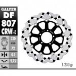 DF807CRWD - DISCO FRENO FLOTTANTE WAVE SCANALATO DESTRA (C. ALU.) 320x4,5 DUCATI MULTISTRADA 12 ANTERIORE