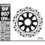 DF807CRWI - DISCO FRENO FLOTTANTE WAVE SCANALATO SINISTRA (C. ALU.) 320x4,5m DUCATI MULTISTRADA 12 ANTERIORE
