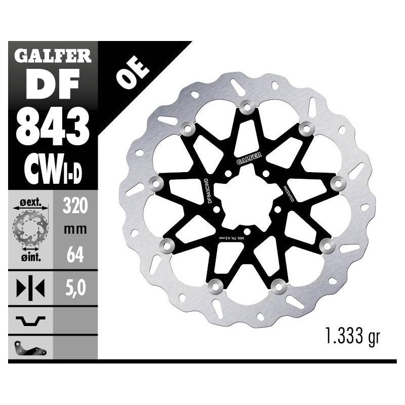 df843cwd galfer disco freno cw KTM Super Duke GT df843cwd disco freno flottante wave pleto c alu 320x5mm ktm 1290 loading zoom