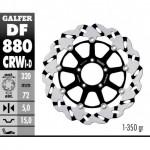 DF880CRWD - DISCO FRENO FLOTTANTE WAVE SCANALATO DESTRA (C. ALU.) 320x5mm DUCATI 999 R ANTERIORE