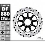 DF880CRWI - DISCO FRENO FLOTTANTE WAVE SCANALATO SINISTRA (C. ALU.) 320x5mm DUCATI 999 R ANTERIORE