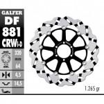 DF881CRWD - DISCO FRENO FLOTTANTE WAVE SCANALATO DESTRA (C. ALU.) 320x4,5 DUCATI 998 R ANTERIORE