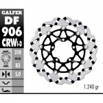 DF906CRWD - DISCO FRENO FLOTTANTE WAVE SCANALATO DESTRA (C. ALU.) 310x5mm TRIUMPH DAYTONA 675 ANTERIORE