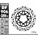 DF906CRWI - DISCO FRENO FLOTTANTE WAVE SCANALATO SINISTRA (C. ALU.) 310x5mm TRIUMPH DAYTONA 675 ANTERIORE