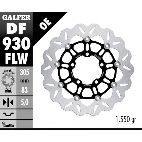 DF930FLW - DISCO FRENO FLOTTANTE WAVE (C. STEEL) 305x5mm TRIUMPH TIGER 800 / EXPLORER ANTERIORE